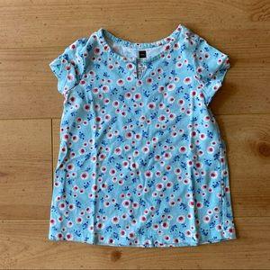 Tea Collection Floral Blue Top